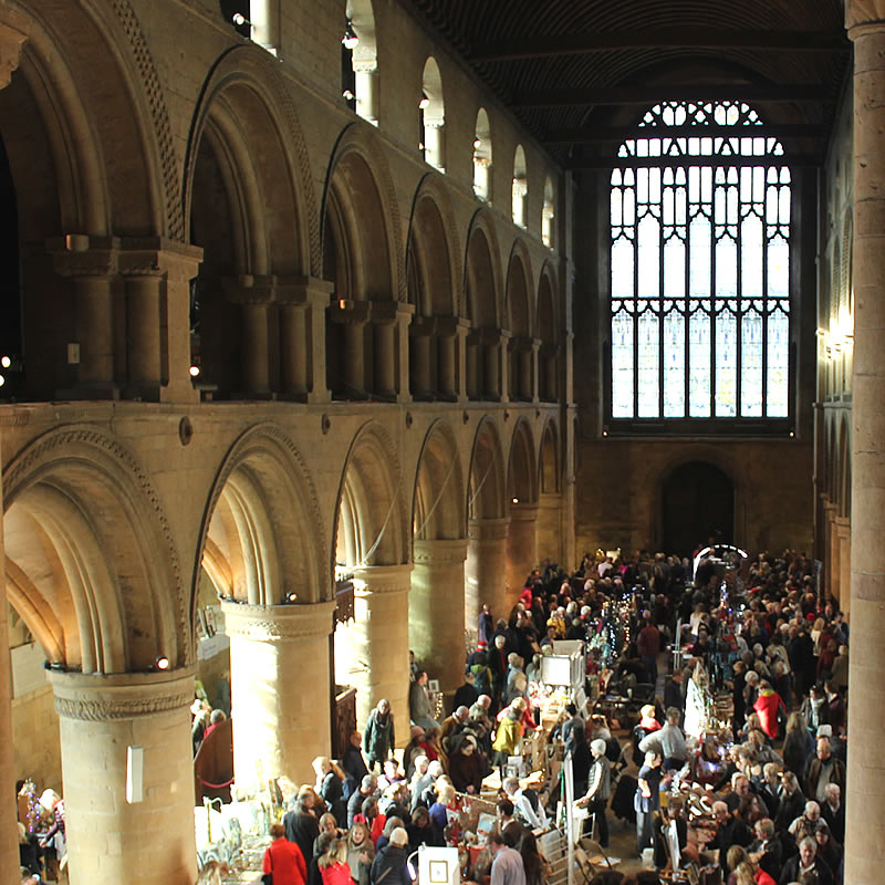 Winter Craft Fair in the Nave at Southwell Minster