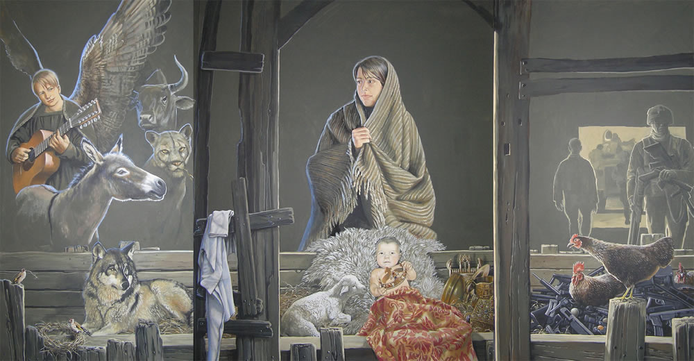 Nativity Triptych by Jennifer Bell