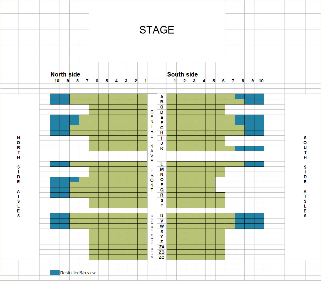 Seating plan for the Nave