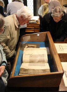 Visitors at an Historic Chapter Library Open Day